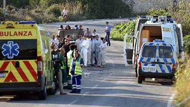 16 października 2017 , Mosta , Malta . Miejsce wybuchu bomby , która zabiła dziennikarkę Daphne Caruanę Galizię
