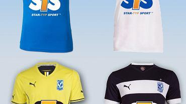 Koszulki Lecha Poznań z logiem STS - wizualizacja