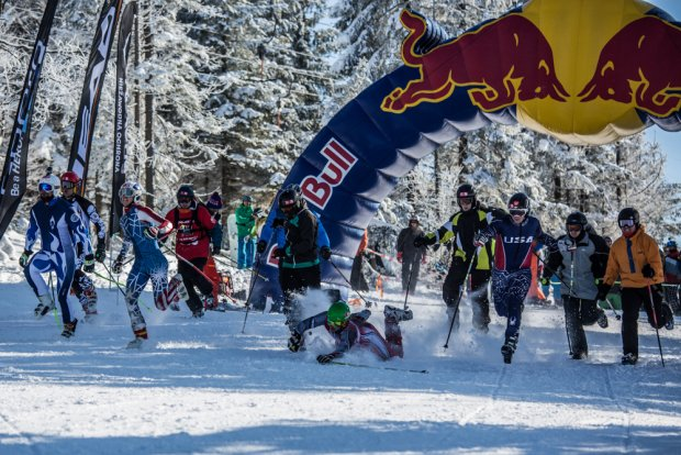 Zjazd na Krechę. Zawody narciarskie w Szczyrku
