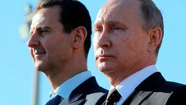 Władimir Putin w towarzystwie Baszara al-Asada