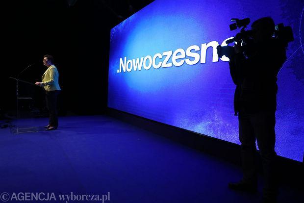 Nowa przewodnicząca Nowoczesnej Katarzyna Lubnauer podczas konwencji krajowej Nowoczesnej