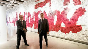 """Prezydent Duda w Europejskim Centrum Solidarności podkreślał, jak aktualne jest hasło """"Nie ma wolności bez Solidarności""""."""