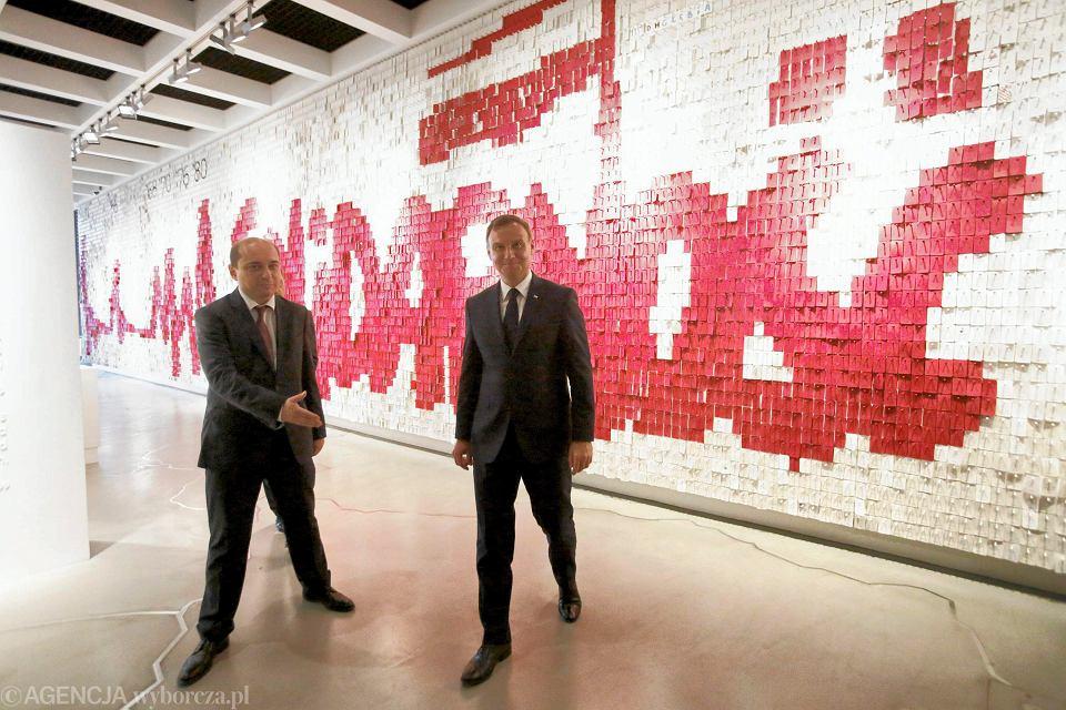 Prezydent Duda w Europejskim Centrum Solidarności podkreślał, jak aktualne jest hasło