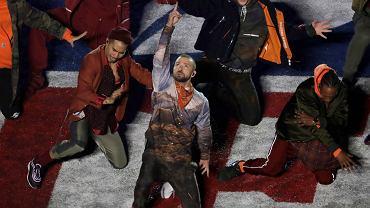 Justin Timberlake podczas Super Bowl 2018