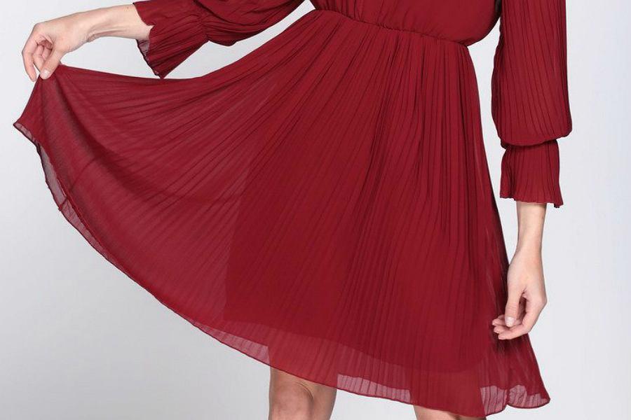 Burgund sukienka