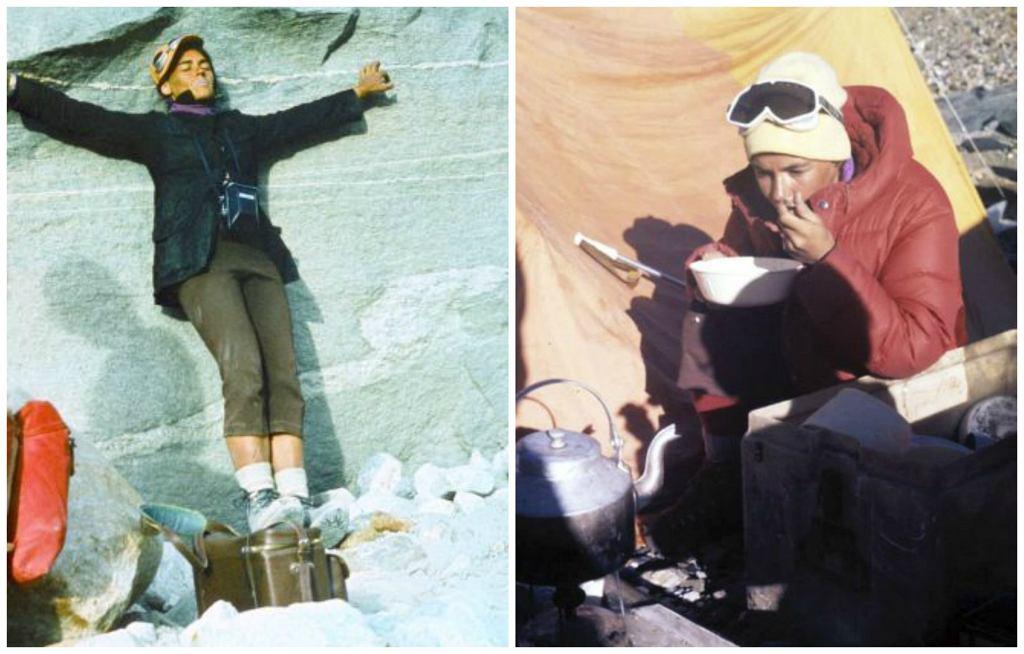 Wanda Rutkiewicz podczas wyprawy na Gaszerbrumy (fot. archiwum Marka Janasa)
