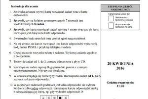 Egzamin gimnazjalny 2016 - część językowa. ANGIELSKI, poziom rozszerzony. Zobacz przykładowe ODPOWIEDZI