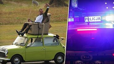 Ponad dwa promile alkoholu w organizmie miał 25-latek, który przewoził dwóch pasażerów... na dachu.