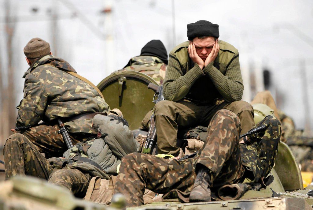 Ukraińscy żołnierze interweniujący we wschodniej części kraju