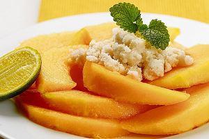 Melony z ziołową granitą