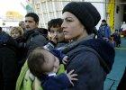 Uchodźcy w porcie Pireus w Grecji