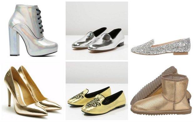 bd3c35ac Srebrne i złote buty - efektowne dopełnienie stylizacji