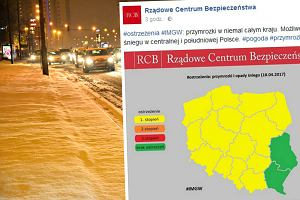 Zima nie odpuszcza. IMGW ostrzega: W nocy przymrozki i intensywne opady śniegu
