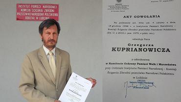 Dr Grzegorz Kuprianowicz, historyk