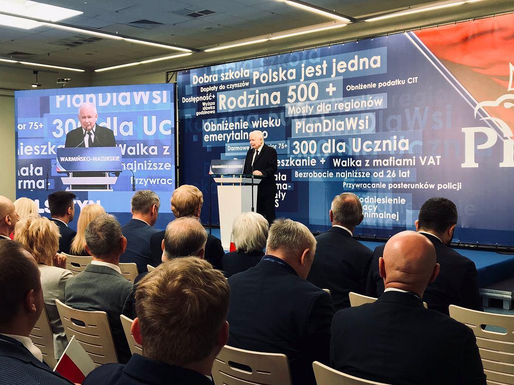 Jarosław Kaczyński w Olsztynie