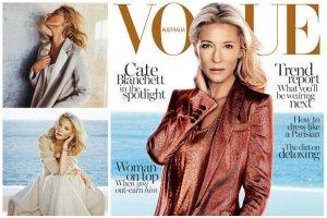 """Subtelna sesja Cate Blanchett w australijskim """"Vogue"""". Niekt�rzy uwa�aj�, �e aktorka ledwie przypomina w niej siebie. A wy? [ZDJ�CIA + WIDEO]"""