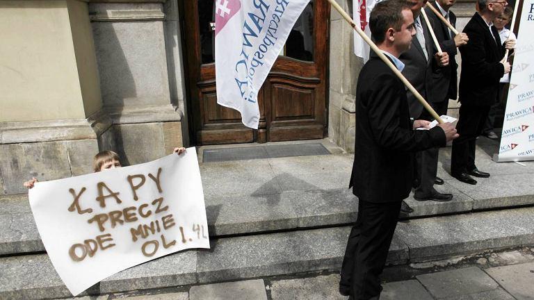 Kraków: protest przeciwko edukacji seksualnej dzieci od przedszkola
