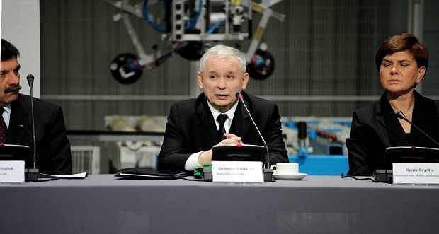 Jarosław Kaczyński podczas debaty PiS