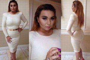 Grycanka w sukience, fryzurze i makija�u a la Kardashian. Internauci: Nigdy nie b�dziesz Kim! Tragedia
