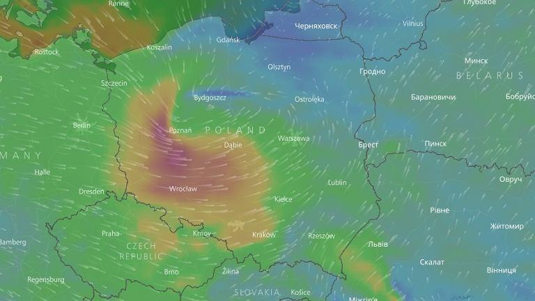 Orkan Ksawery nad Polską