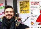 Gdańszczanin Piotr Pielichowski szykuje Wigilię przed Rezydencją Foksal