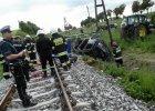 Wypadek na przejeździe kolejowym w Pniewitem, powiat chełmiński