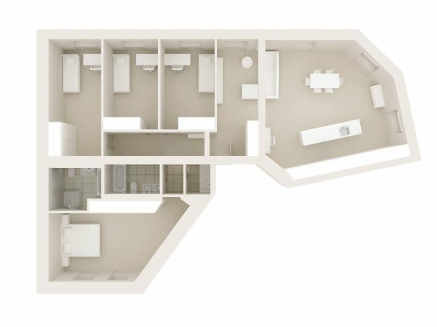 Plan mieszkania 145 m kw.
