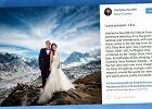 """Powiedzieli sobie """"tak"""" na Mount Evereście. Ich zdjęcia ze ślubu wywołują dreszcze"""