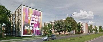 Mural 'Liberecon por la Mondo' powstanie na bloku przy Broniewskiego 23