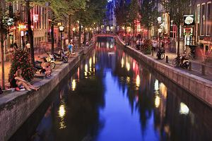 Amsterdam. Dzielnica czerwonych latarni