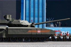 """Superczo�g i superklapa. Podczas pr�by przed 9 maja T-14 nagle zgas�. Rosja: """"To zaplanowany post�j"""""""