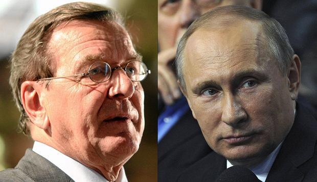 Media: b. kanclerz Niemiec Schroeder świętował urodziny z Putinem