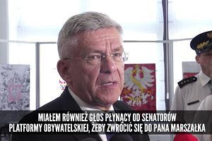 """Marszałek Senatu bez ogródek: """"Nie możemy doprowadzić do tego, że wszyscy wchodzą do Sejmu"""""""