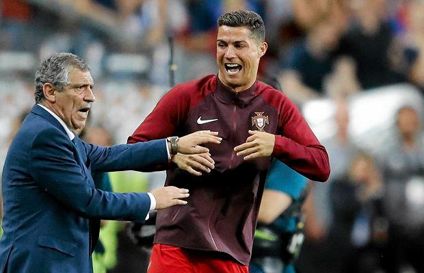 Fernando Santos i Cristiano Ronaldo