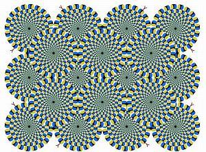Te węże wyglądają, jakby się ruszały, prawda? I to tak bardzo, że co wrażliwsze  osoby mogą się nabawić mdłości. Ten obrazek stworzył Akiyoshi Kitaoka, profesor psychologii z Uniwersytetu Ritsumeikan w Kioto, w Japonii. Za zgodą autora prezentujemy serię jego iluzji optycznych. Uprzedzamy, to widok tylko dla najodporniejszych!