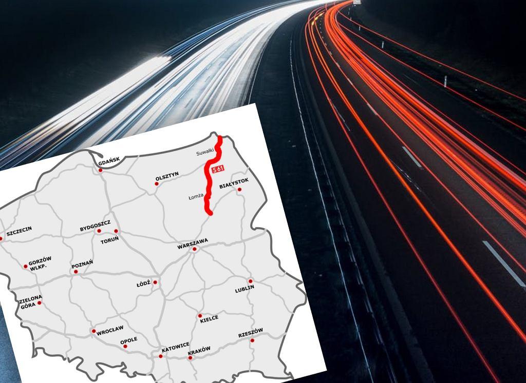 Kolejny odcinek drogi ekspresowej S61 w budowie. Via Baltica coraz bliżej