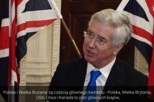Brytyjski minister obrony: Polska liderem NATO w wydatkach na obronno��