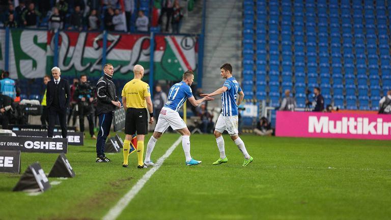 Lech Poznań - Legia Warszawa 1:2 (kwiecień 2017). Marcin Robak, Dawid Kownacki