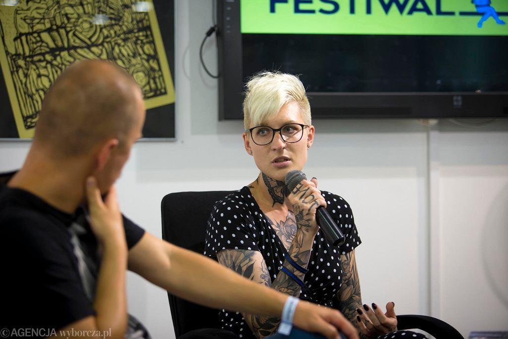 Katarzyna Puzyńska na festiwalu #bedzieczytane w Ełku / RENATA DĄBROWSKA