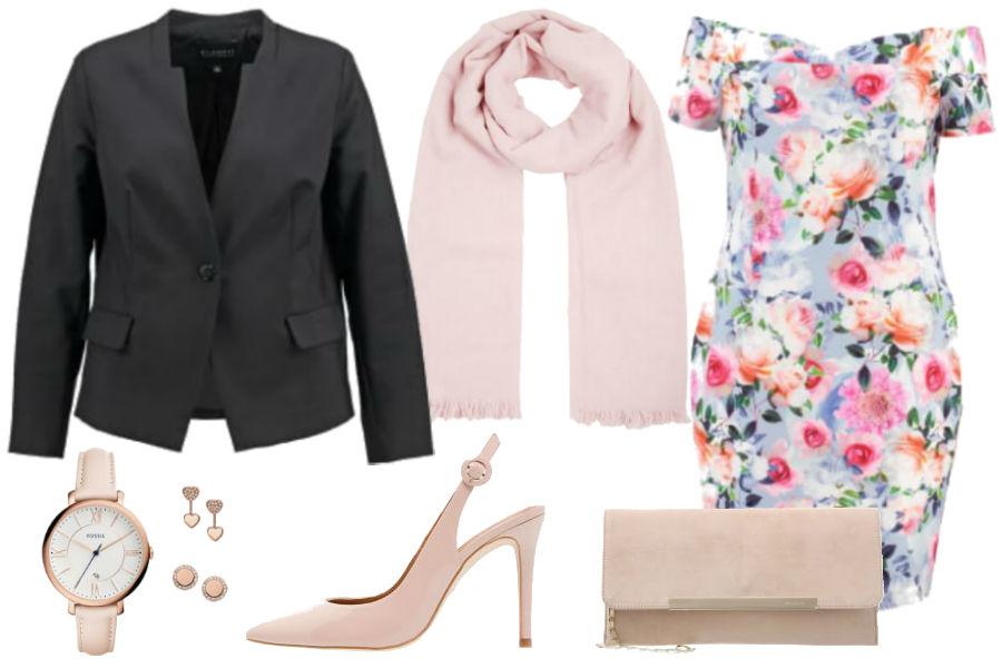 Kolaż Avanti24 / Stylizacja z sukienką w kwiaty / Materiały partnera