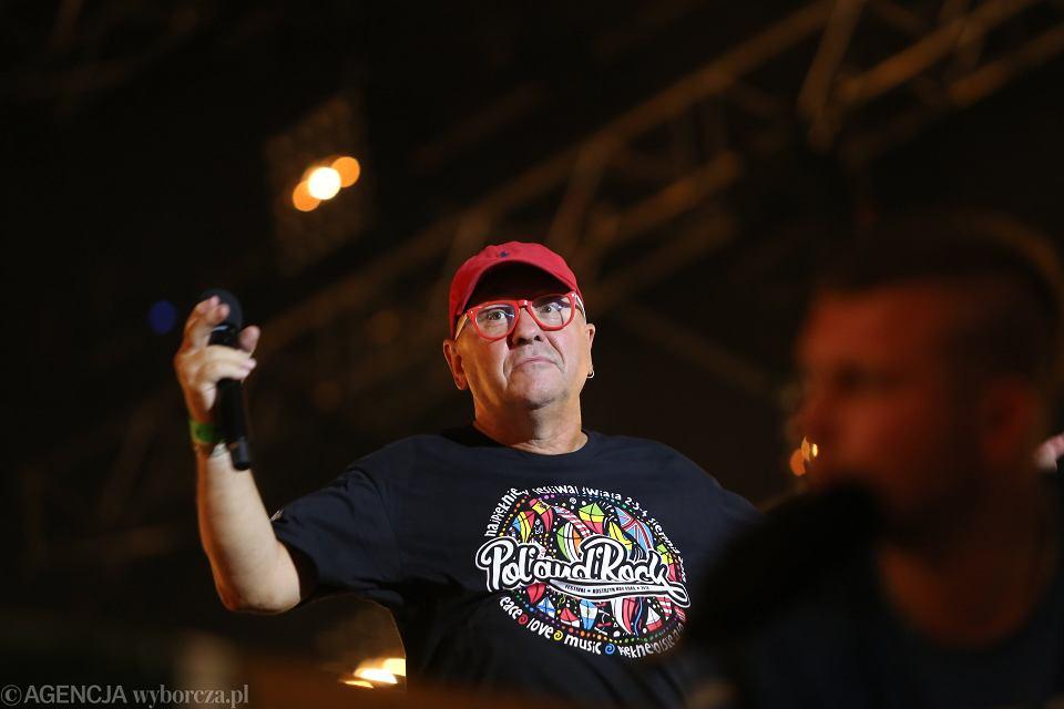 Jerzy Owsiak podczas Pol'and'rock Festival, Kostrzyn nad Odrą 05.08.2018