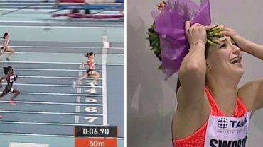 Ewa Swoboda poprawi�a rekord �wiata juniorek w biegu na 60 m! Znakomita forma! Brawo!