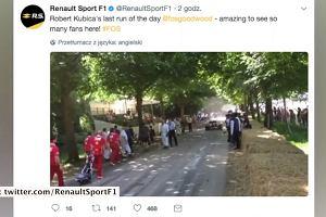 Kubica ponownie wsiadł do bolidu Formuły 1. Polski kierowca poprowadził model Renault z 2012 roku podczas imprezy motoryzacyjnej w Anglii