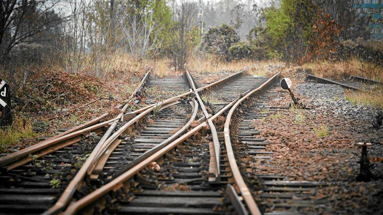 Nieczynny tor kolejowy w Łodzi