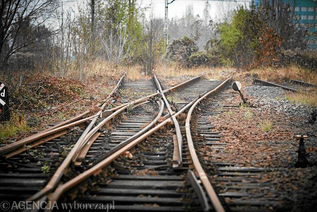 Nieczynny tor kolejowy w �odzi