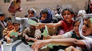 Dystrybucja żywności w Jemenie