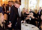 Sharon Stone na kolacji z Lechem Wa��s� i Janem Kulczykiem