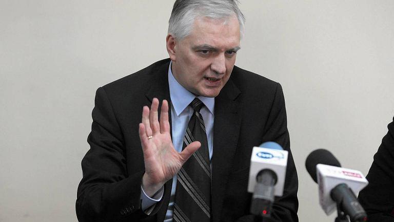 Kielce, marzec 2013. Minister Sprawiedliwości Jarosław Gowin