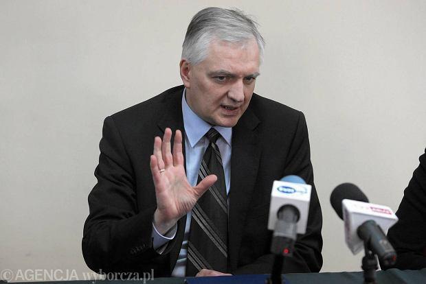 Kielce, marzec 2013. Minister Sprawiedliwo�ci Jaros�aw Gowin