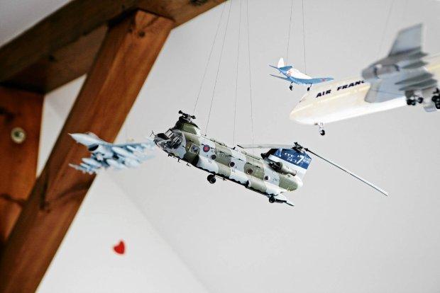 wystrój wnętrz, modele samolotów
